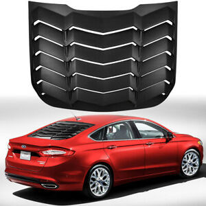 Rear Window Louver Cover Sun Shade Vent Abs For 2013 2020 Ford Fusion