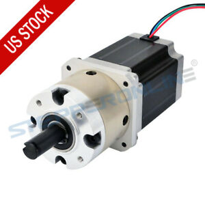 4 1 Planetary Gearbox Nema 23 Geared Stepper Motor 2 8a L 76mm 4 Wires Cnc