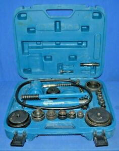 Temco Hydraulic Knockout Punch Kit Model Number Th0037 Hole Cutter