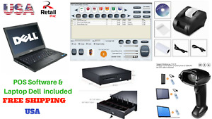 Low Price Full Pos All in one Point Of Sale System Combo Kit Retail Store Laptop