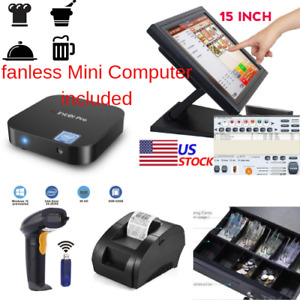 New Mini Fanless Pc Pole Display Pos Point Of Sale System Kit Retail Store