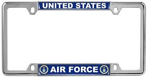 U s Air Force Department Custom 4 Hole Metal Car License Plate Frame