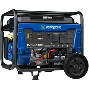 Westinghouse Wgen5300s 5300 Watt Electric Start Portable Generator carb