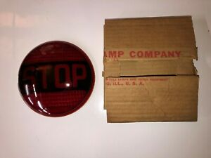 Big Nos Vintage Do Ray Stop Glass Light Lens Old Fire Truck Bus Wrecker Warning