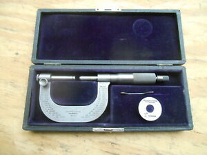 Antique Brown Sharpe No 30 Adjustable Anvil Micrometer 0 2 001