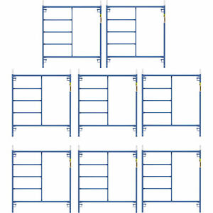 Metaltech M mf6060psk8 Saferstack 5ft X 5ft Mason Frame Kit 8 pack