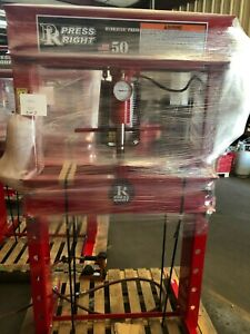 Press Right 50 Ton Air hydraulic Shop Press Proudly Made In Usa special Price