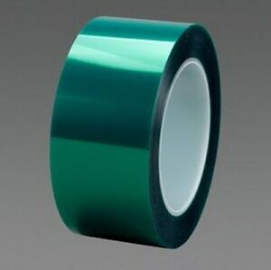 2 X72yds Powder Coating High Temp Heat Green Polyester Tape Us Stock