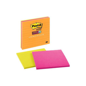 Post it Super Sticky Notes 4445 3ssmx 4 In X 4 In 101 Mm X 101 Mm