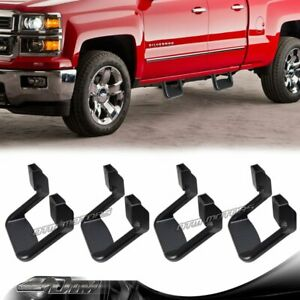 4 X Black Texture Coated Die cast Aluminum Suv Truck Pickup Nerf Side Step Bar