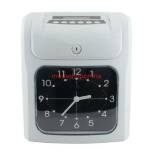 Durable Electronic Time Clock Card Machine Employee Work Hour Recorder Ship 2 5d