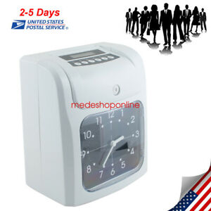 Useful Office Electronic Time Clock Card Machine Employee Work Hours Recorder Ce