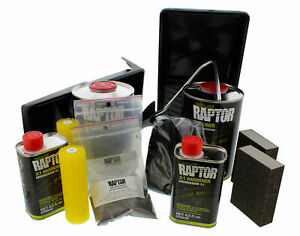 U Pol 5010 Raptor Black 2 Liter Urethane Roll On Truck Bed Liner Kit Up5010