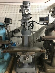 Bridgeport Milling Machine 42 Table Acu rite Dro And Power Feed