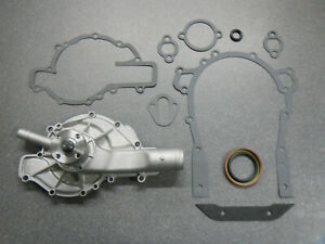 62 63 64 65 66 Buick Nailhead Water Pump With Timing Cover Gaskets 400 401 425