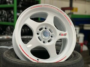 New 15 Inch Evo Regamaster Design White Wheel set Of 4 4x100 Honda Toyota Kia