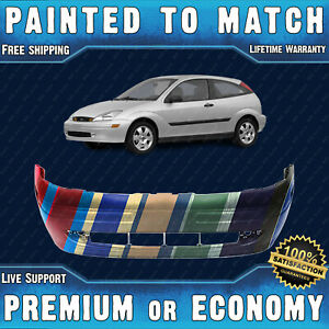 New Painted To Match Front Bumper For 2000 2004 Ford Focus Hatch Sedan Wagon