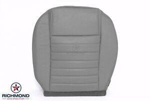 2005 2009 Ford Mustang V8 Driver Side Bottom Replacement Leather Seat Cover Gray