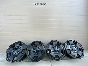 17 Chevrolet Silverado Tahoe Boss Black Z71 Chevy Oem Factory Stock Wheels Rims