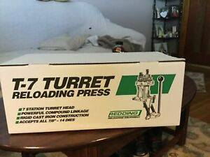 "Redding Reloading T-7 Turret Head Cast Iron Press Accepts All 78""-14 Dies"