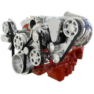Cvf Chevy Ls Engine Procharger D1x Serpentine Kit W Alternator And Ac Polished