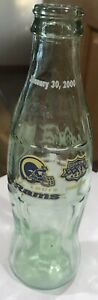 8 OZ Coca Cola Bottle of Super Bowl XXXIV St. Louis Rams -January 30  2000