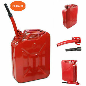 5 Gallon 20l Gas Gasoline Fuel Army Jerry Can Nato Can Military Metal Steel Tank