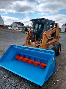 72 Skid Loader Material Bucket With Quicktach And 10 Unload Auger