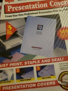 Presentation Covers 30 Sets Ea Holds 25 Sheets Print On Printer Then Seal easy