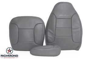 93 94 Bronco Eddie driver Side Bottom lean Back armrest Leather Seat Covers Gray