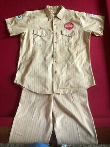 1950-60's, Coca-Cola, Employee Uniform (Shirt & Pants) Scarce / Vintage