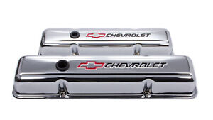 Proform 141 899 Valve Covers Steel Short W Logo Fits Small Block Chevy