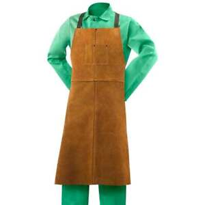 Steiner 92166 24 w X 42 l Leather Bib Apron With Adjustable Crossed Back