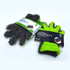 Micro Fiber Car Washing Home Mitt Cleaning Chenille Gloves Towel Auto Glass Tool