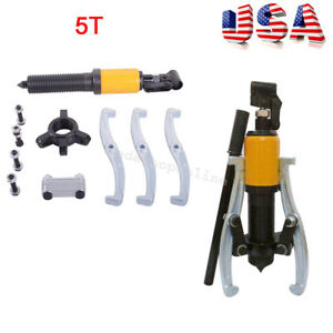 5 Ton Hydraulic Gear Bearing Wheel Bearing Puller Three Reversible Jaws