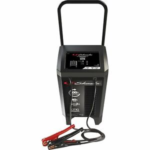 Schumacher 200 40 2 Amp Wheeled Battery Charger With Engine Start 12 Volt