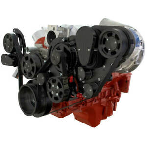 Cvf Chevy Ls Engine Procharger D1x Serpentine Kit With Alternator Only Black