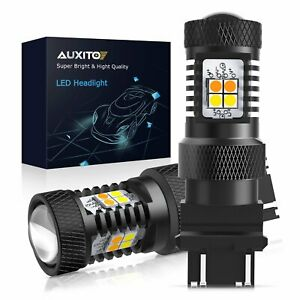 16k Auxito 3157 3757 4157na Amber White Switchback Led Turn Signal Light Bulb A9