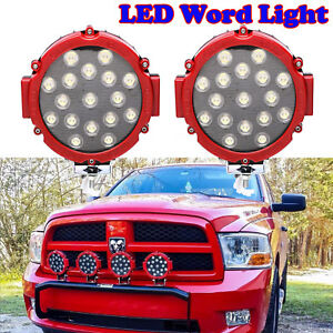 102w Led Work Round Spot Light 12v 24v Off Road Truck 4x4 Boat Suv Fog Lamp 2pcs