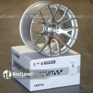 Circuit Cp31 18 9 18 10 5 114 3 Machined Silver Wheel Staggered Fit Infiniti G35