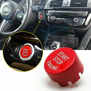 Red Engine Start Stop Push Button Cover Trim For Bmw F20 F23 F30 F32 F10 F12 F48