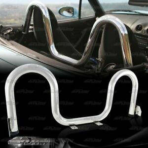Stainless Steel Silver Stabilize Support Roll Bar For 1990 2005 Mazda Miata Mx5