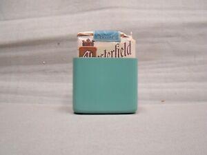 Teal Hold A Pack Vintage Cigarette Pack Holder Metal Cigarette Holder Hold A Pak