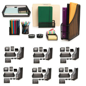 48pc Computer Desk Organizer Set Office Supplies Accessories File Pencil Holder