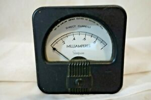 Simpson 1940 s Deco Styling Panel Meters Dc Milliamperes 0 1 New Old Stock