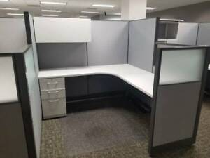 Nice Super Clean Hon 6 x6 Office Cubicles Workstations frosted Glass