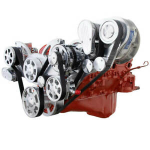 Cvf Chevy Small Block Procharger D1x Serpentine Kit W Alternator Polished