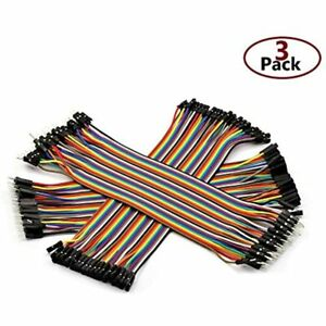 120pcs 21cm Multicolored Dupont Wire Breadboard Jumper 40pin Male To Female Kit