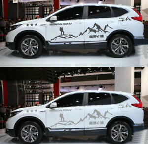 Graphics Vinyl Mountain Car Sticker Fit For Honda Crv Cross Country Decal 2 Side
