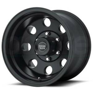 17x8 American Racing Baja 6x139 7 Et0 Satin Black Wheels set Of 4